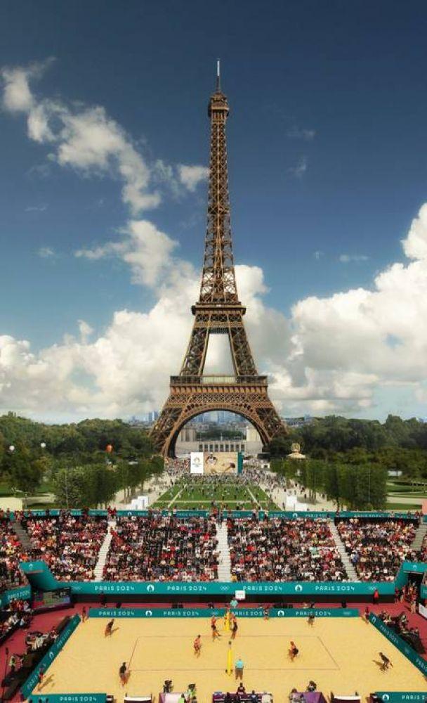 O vôlei de praia terá como cenário a Torre Eiffel